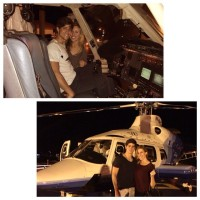 Only the best boyfriends pick you up in the heli #…